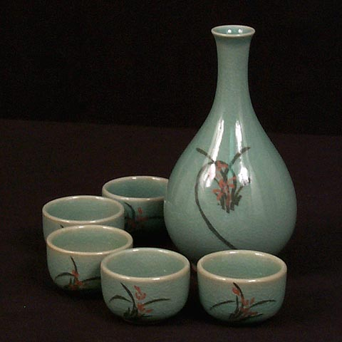 Orchid Rice Wine Set