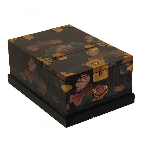 Black Floral Cosmetic Box