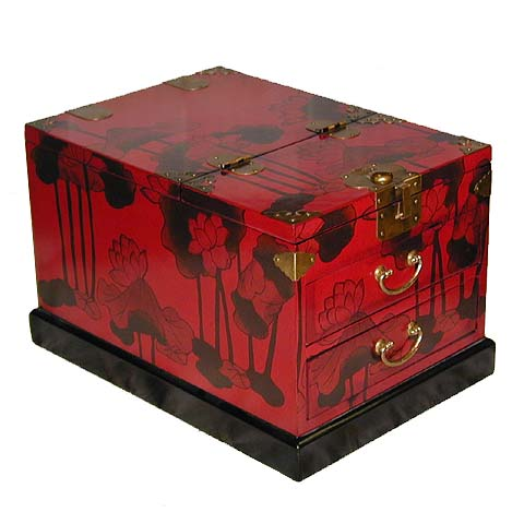 Red Two Drawer Cosmetic Box