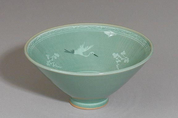Crane & Cloud Centerpiece Bowl