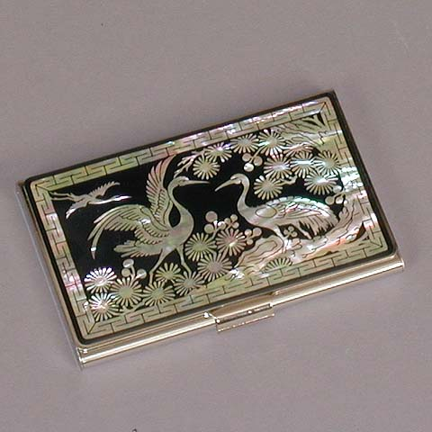Flying Cranes Business Card Case