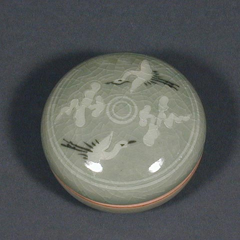 Circling Cranes & Clouds Cosmetic Box