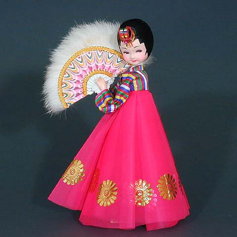 Fan Dance Doll - Red Dress