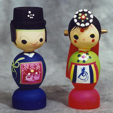 Traditional Wedding Dolls (medium)