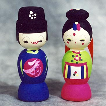 Miniature Traditional Wedding Dolls