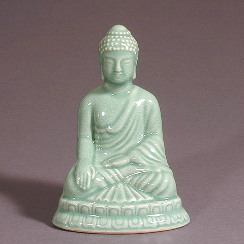 Celadon Seated Buddha