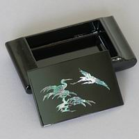 Black Lacquered Cranes Box-open