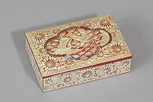 Courting Cranes Inlaid Mother of Pearl Box