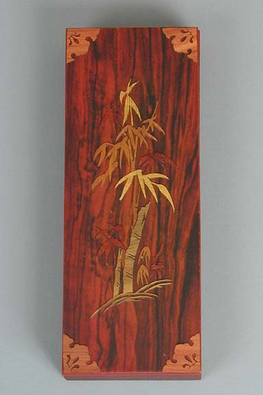 Inlaid Bamboo Lacquered Box
