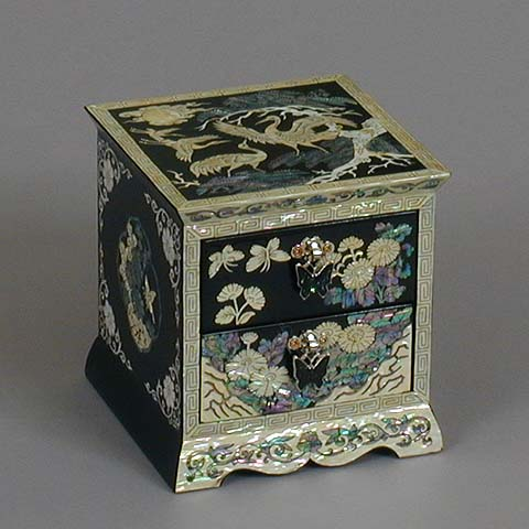 Two Drawer Black Jewelry Box