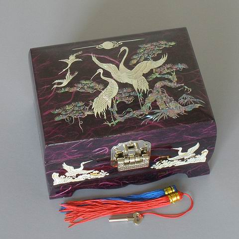 Purple Cranes Music Box