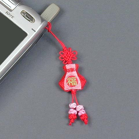 Red Bok-ju-meo-ni Phone Fob