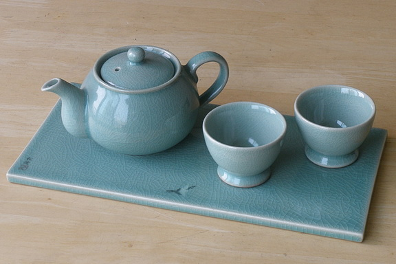 Western Teapot Serving Tile Set