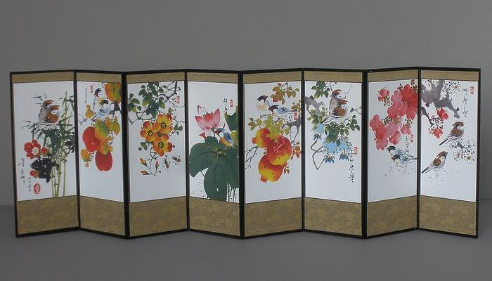 Flowers & Birds Folding Screen