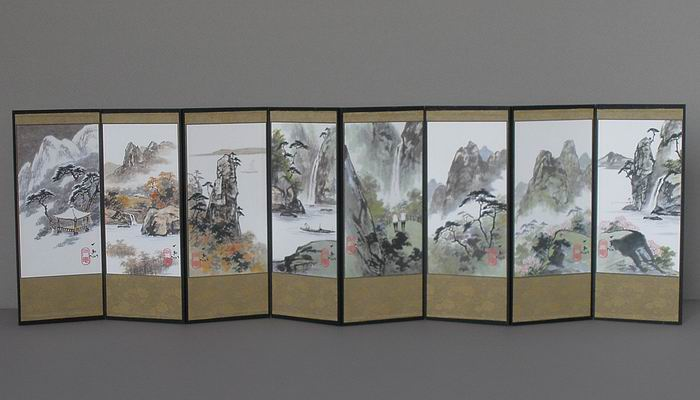 Landscape Paintings Folding Screen